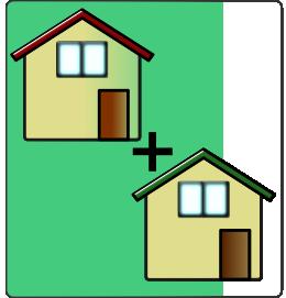 例えば居宅と物置が別々に登記されている場合に、これら2棟を1個の登記簿にまとめたい場合には、建物合併登記をすることができます。